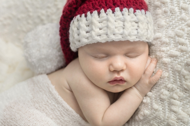 newborn girl santa hat