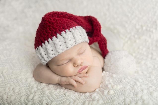 newborn girl santa hat